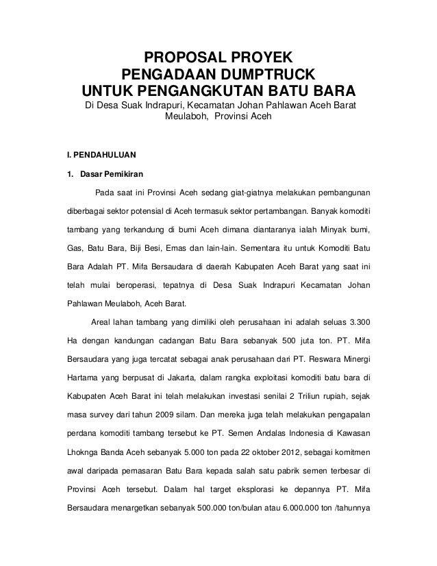 Proposal proyek
