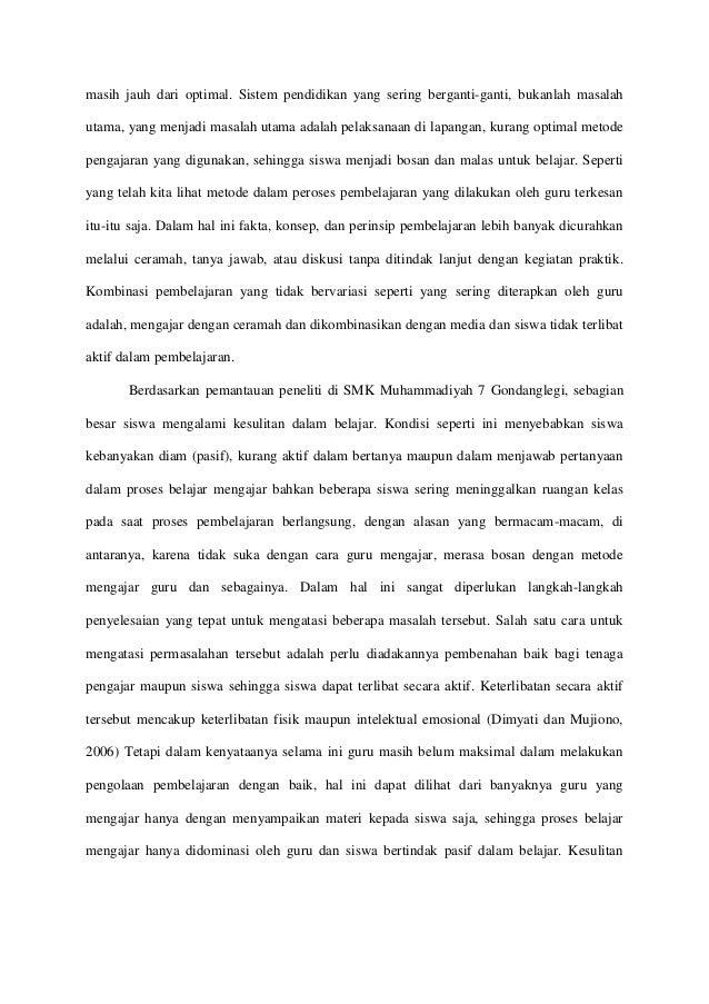 Proposal Ptk Bahasa Indonesia