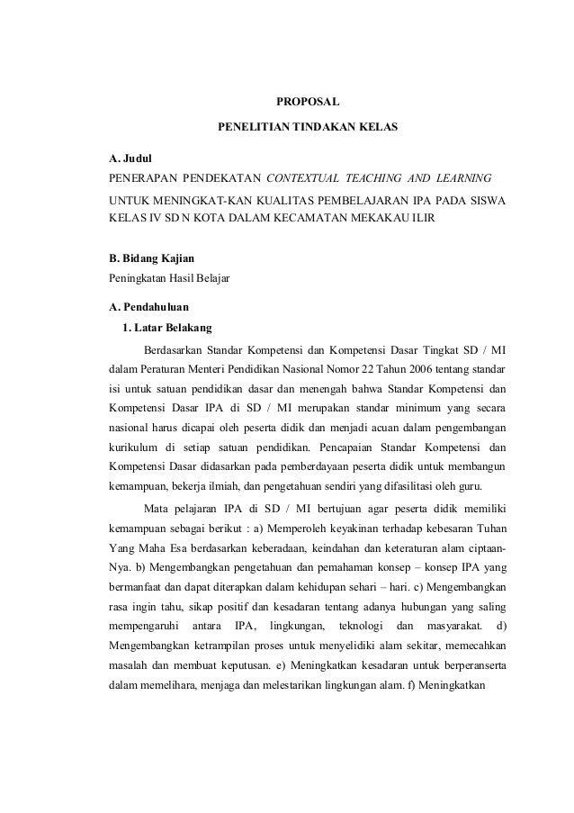 Contoh Proposal Ptk Sd Kelas 5 Ipa Pdf Berbagi Contoh Proposal