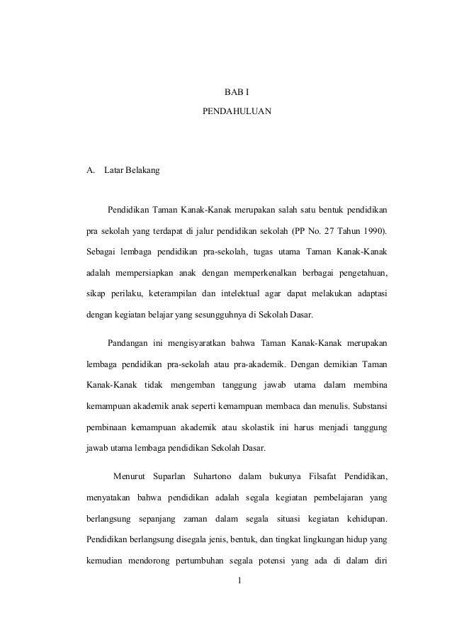 Proposal Penelitian Penggunaan Media Gambar Untuk Membaca Permulaan