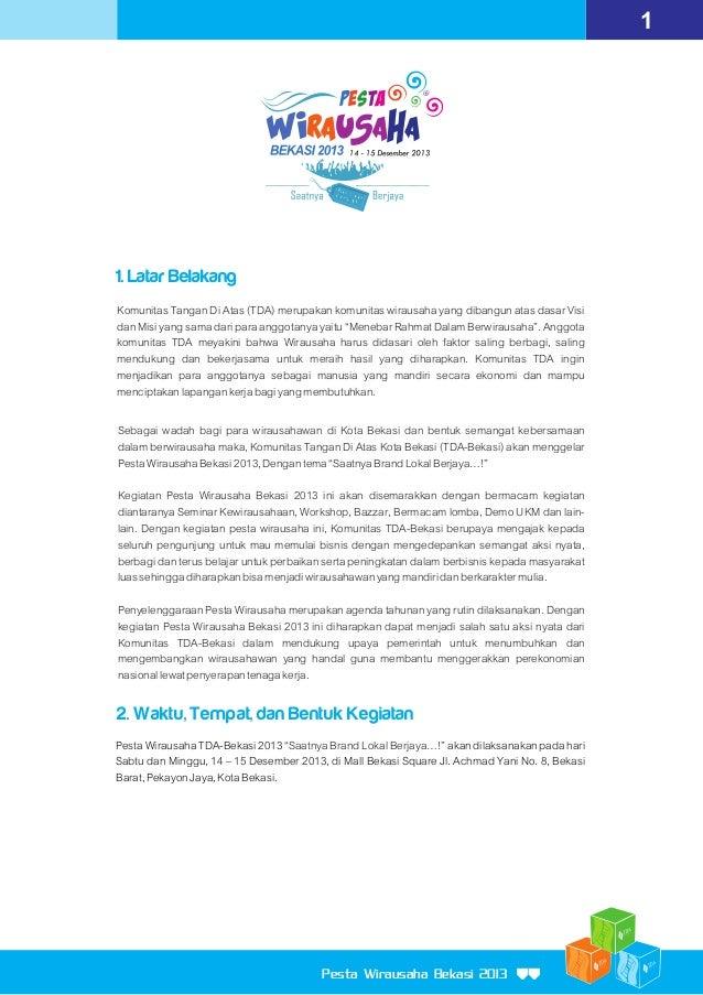 Proposal Sponsorship Pesta Wirausaha Bekasi 2013 Slide 3