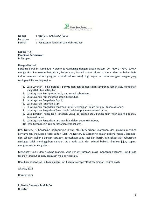 Proposal ras nursery & gardening jakarta
