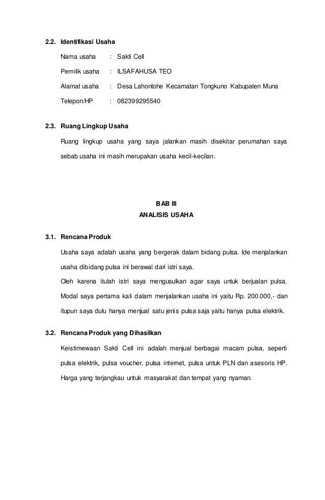 Proposal Rencana Usaha
