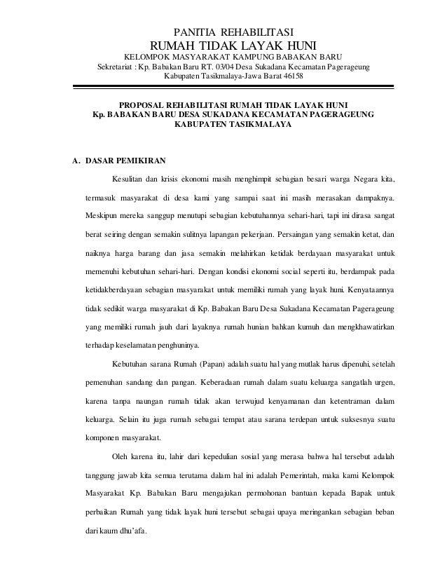 Proposal Rtlh Babakanbarugubernur