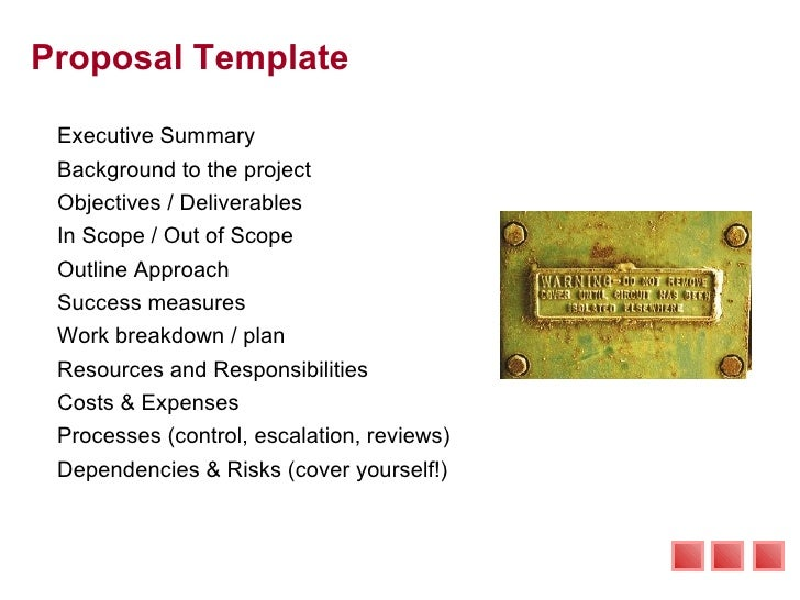 Proposal Template ...  It Consulting Proposal Template