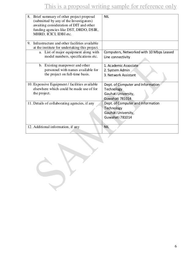 Proposal sample 1 – Sample Funding Proposal