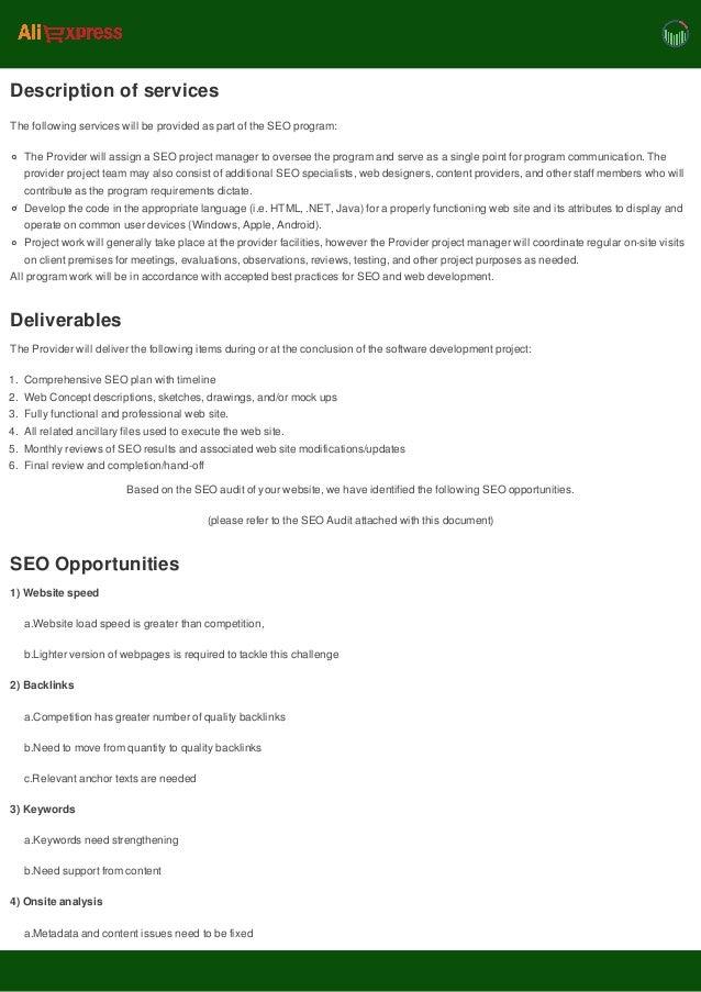 Automated SEO proposal  Slide 3