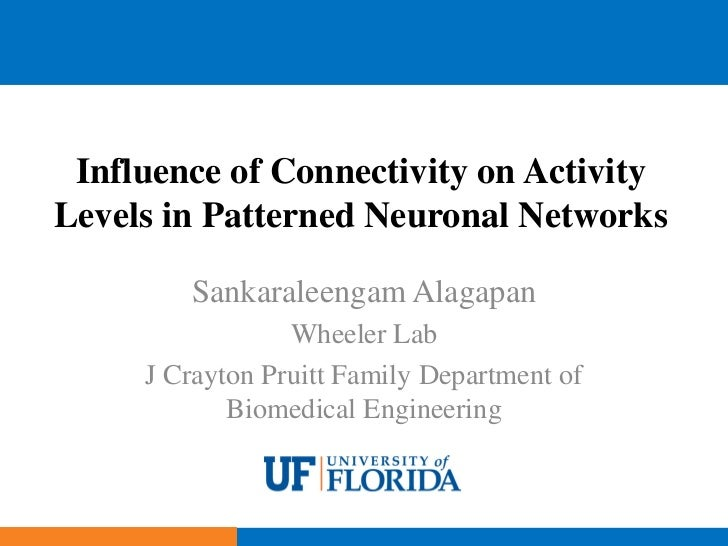 Influence of Connectivity on ActivityLevels in Patterned Neuronal Networks        Sankaraleengam Alagapan                 ...