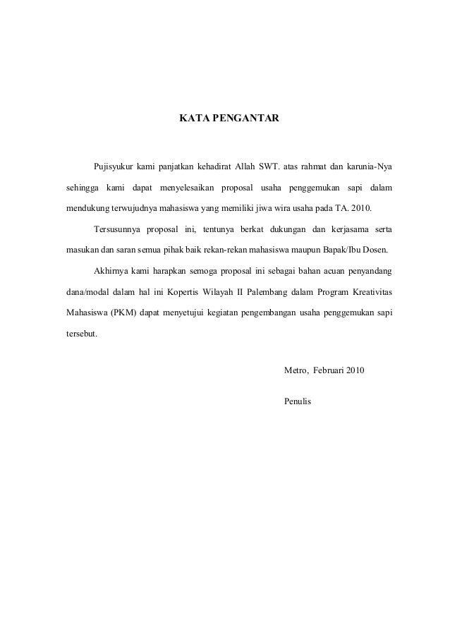 Proposal Sapi 1
