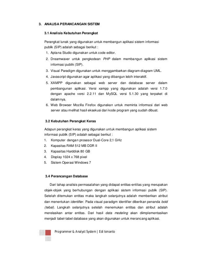 Contoh Portfolio Project Aplikasi Sistem Informasi Publik Sip Untuk