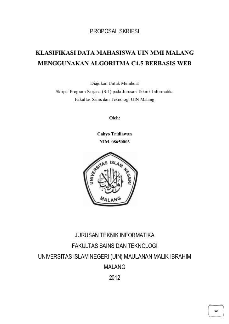 Contoh Proposal Tesis Uin Malang