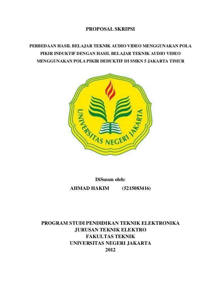 Proposal Skripsi Ahmad Hakim