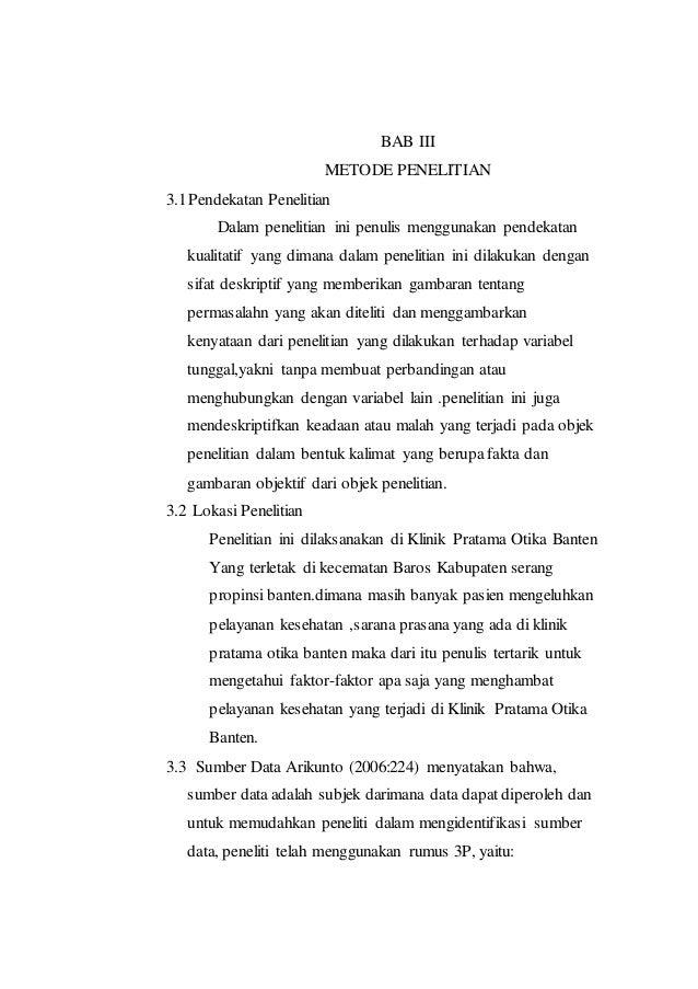 Proposal Skripsi Analisis Kualitas Pelayanan