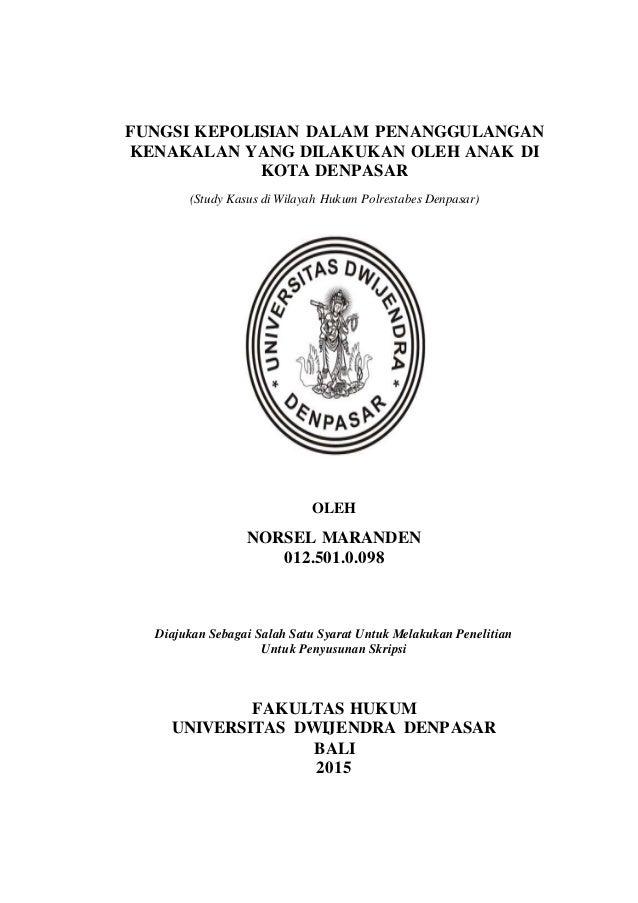 Contoh Proposal Skripsi Hukum Administrasi Negara