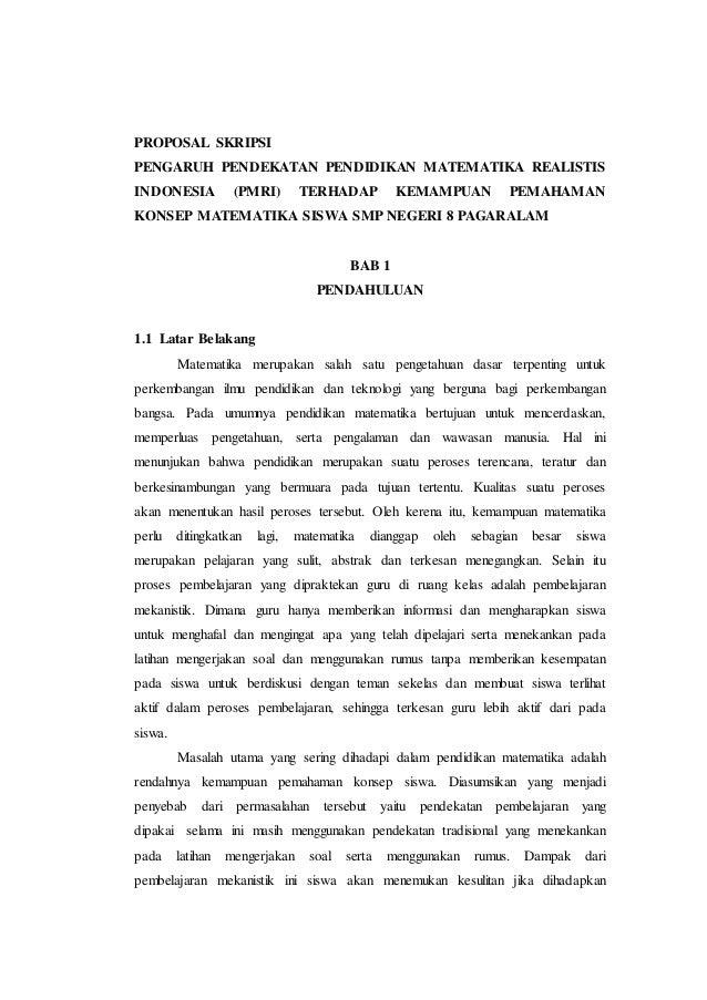 Contoh Abstrak Dalam Skripsi Pendidikan Matematika Brad Erva Doce Info