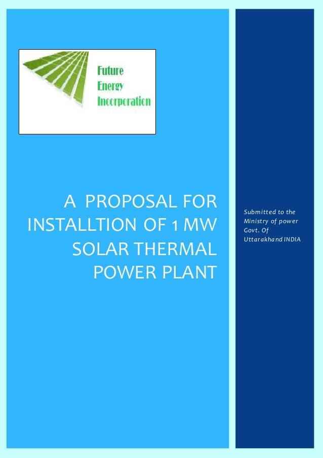 proposal solar