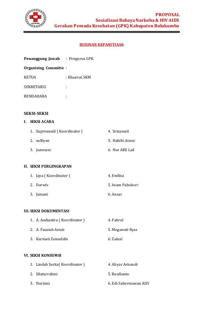 Contoh Proposal Kegiatan Seminar Narkoba Doc Barisan Contoh