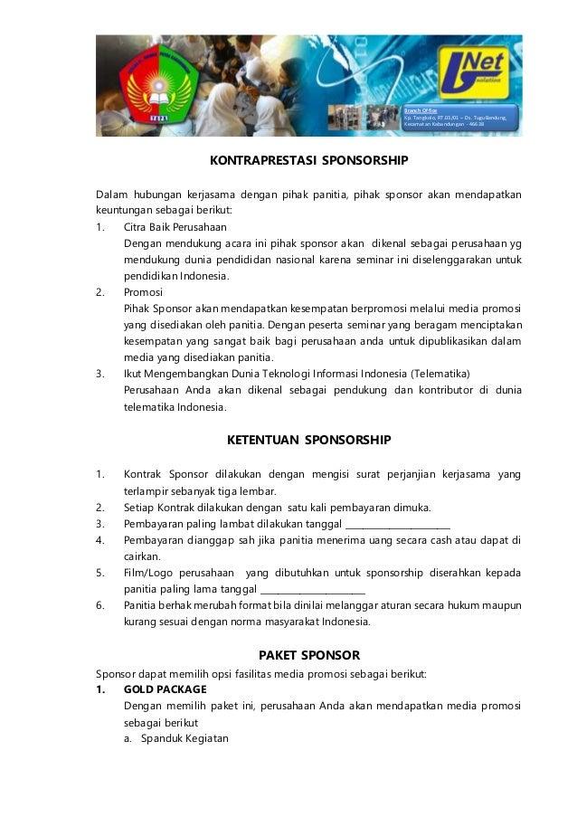 Proposal Sponsorship Workshop Internet