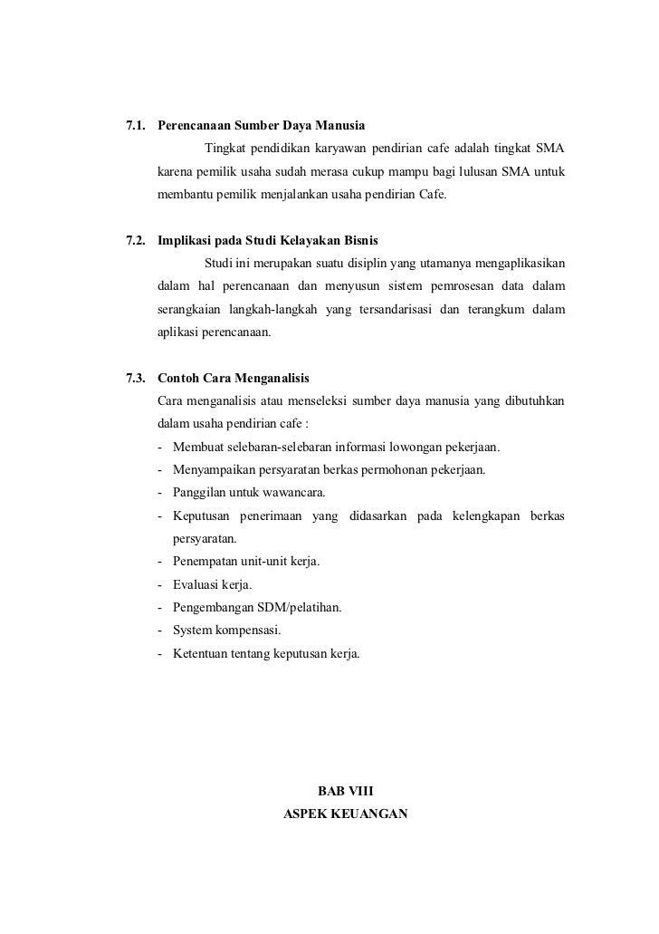 Proposal Studi Kelayakan Bisnis Cafe
