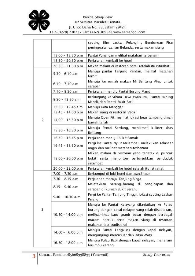 Mizie: Contoh Proposal Laporan Kegiatan Study Tour Bandung