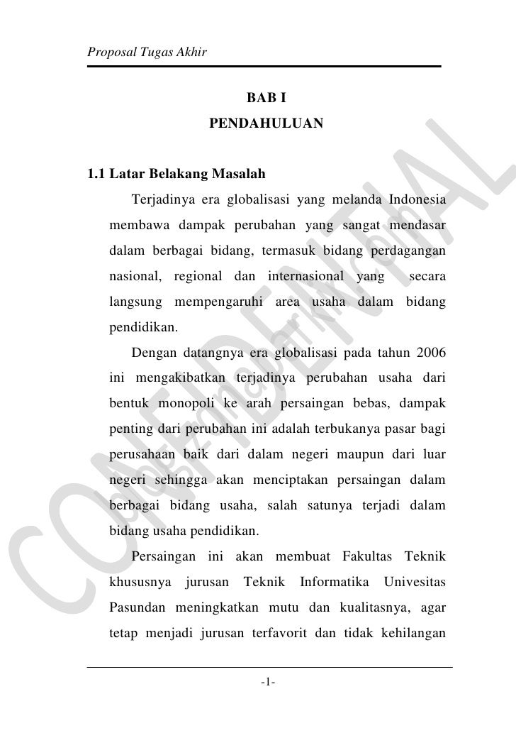 BAB I <br />PENDAHULUAN<br />1.1 Latar Belakang Masalah<br />Terjadinya era globalisasi yang melanda Indonesia membawa dam...