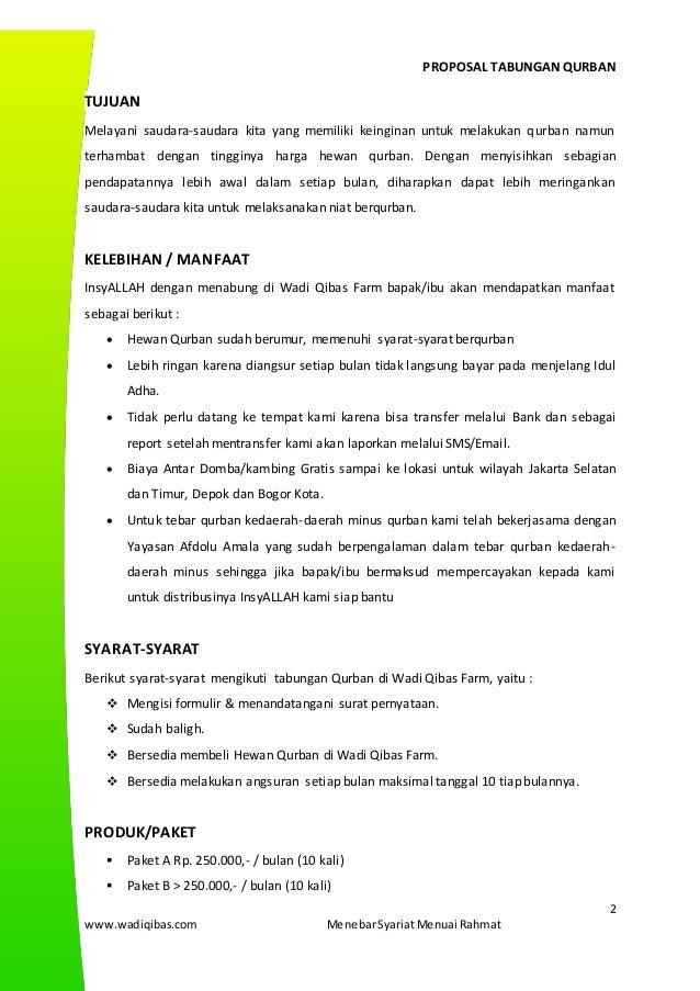 Proposal Tabungan Qurban