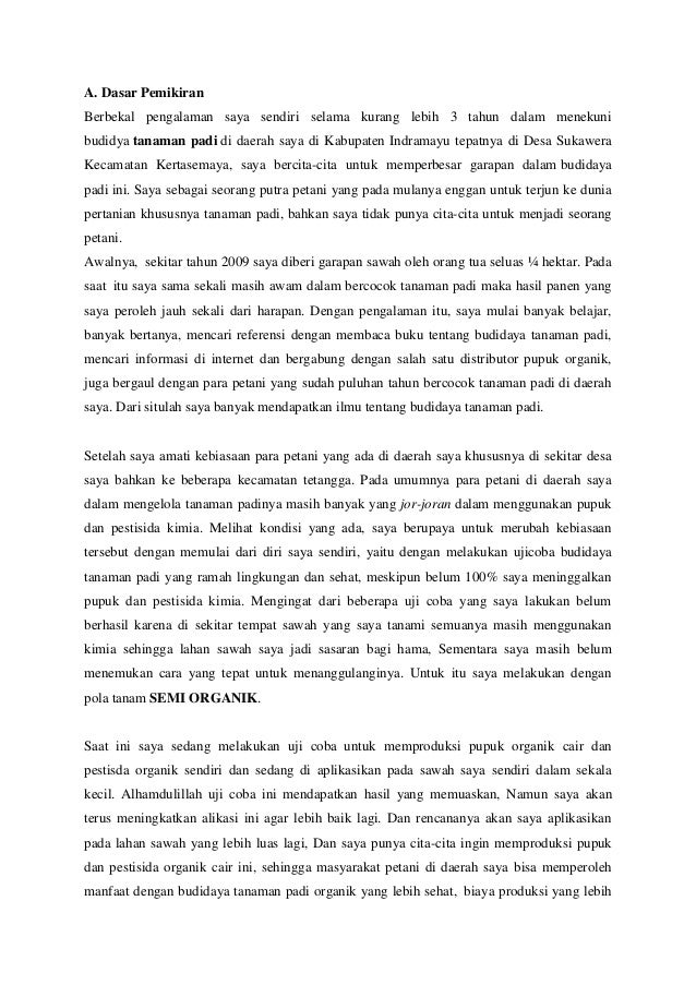 Proposal Tanaman Padi