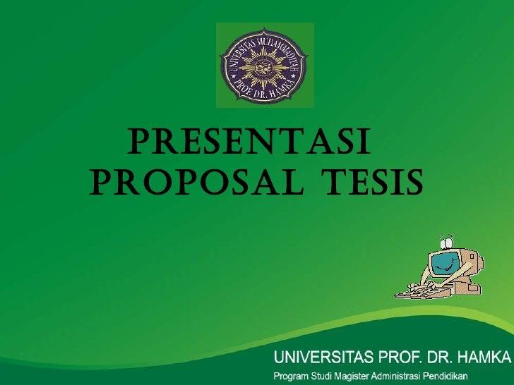 makalah contoh proposal tesis msdm