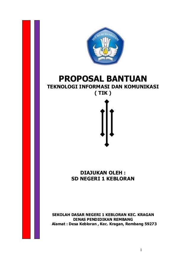 Contoh Proposal Bantuan Tik