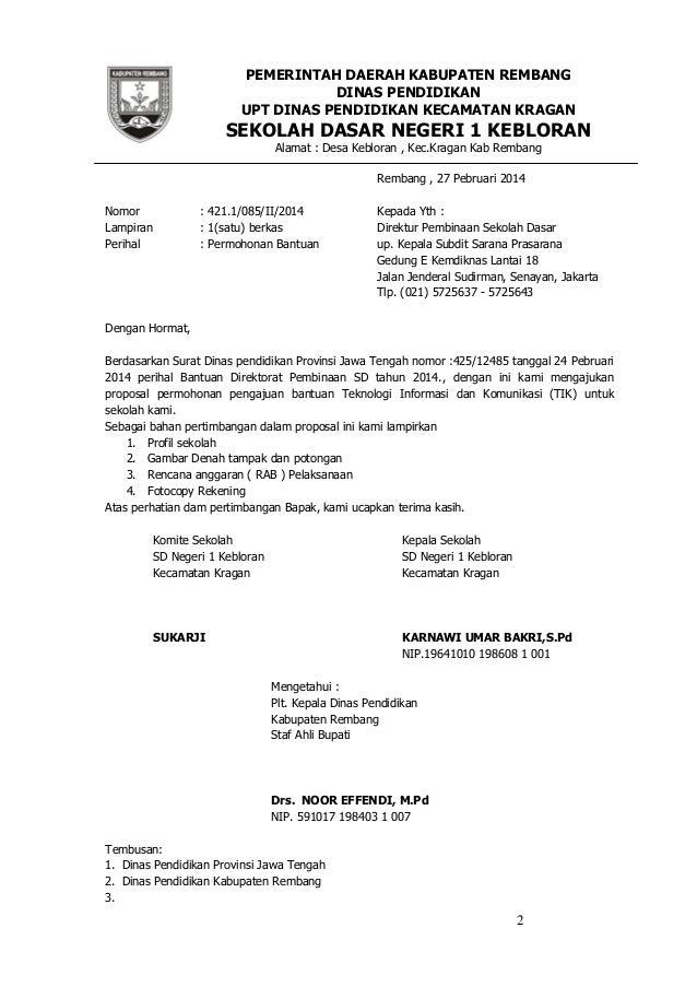 Contoh Surat Resmi Desa - Contoh Hu