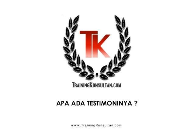 Proposal Training, Pelatihan, Privat, Seminar, Talkshow