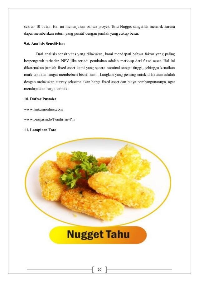 Proposal Tofu Nugget