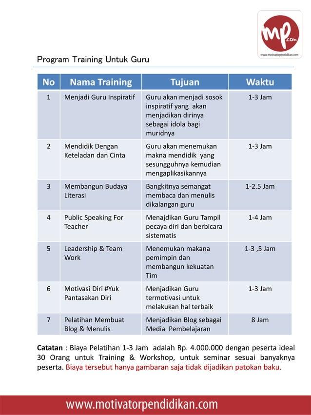 • Sabtu,04 Februari 2017 – Training Guru Inspiratif di SDIT Islamia Tambun Selatan Bekasi • Selasa, 31 Januari 2017- Train...