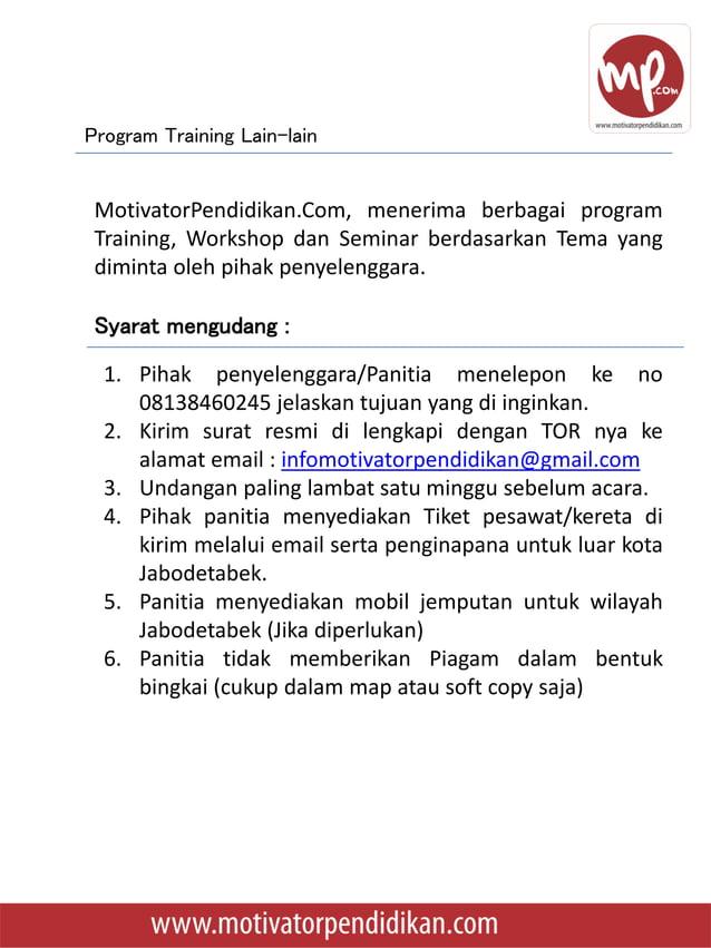  15-16 Januari 2016, Training Guru Inspiratif – Jangan Mau Jadi Guru Lontong Basi dan Penelitian Tindakan Kelas di SMP Is...