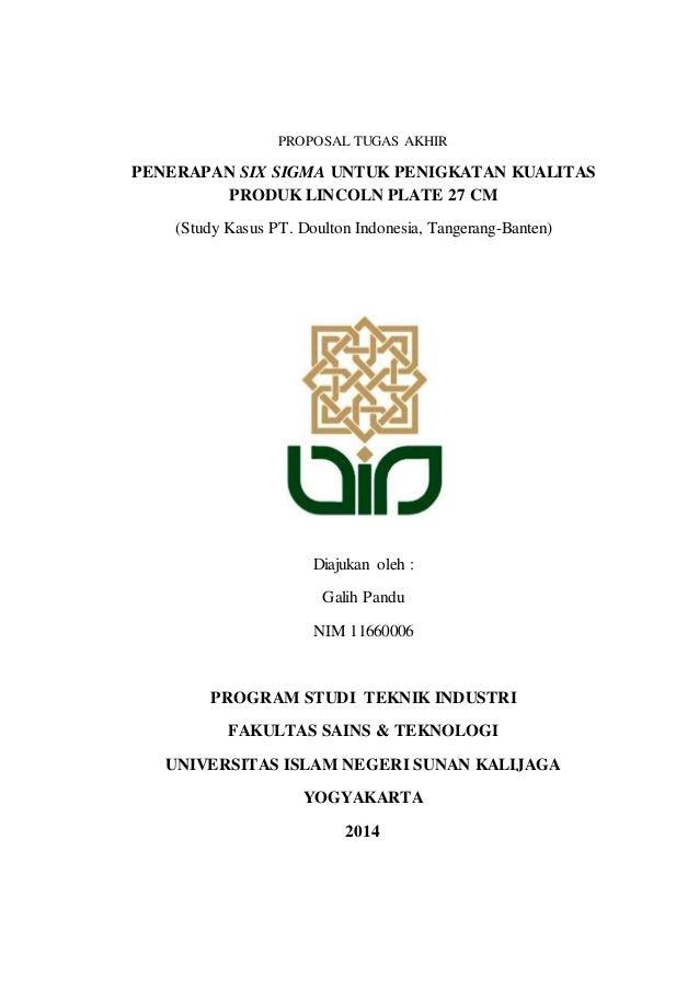 Proposal Tugas Akhir Uin Sunan Kalijaga Yogyakarta