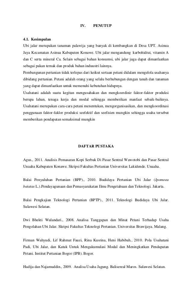 Proposal Ubi Jalar