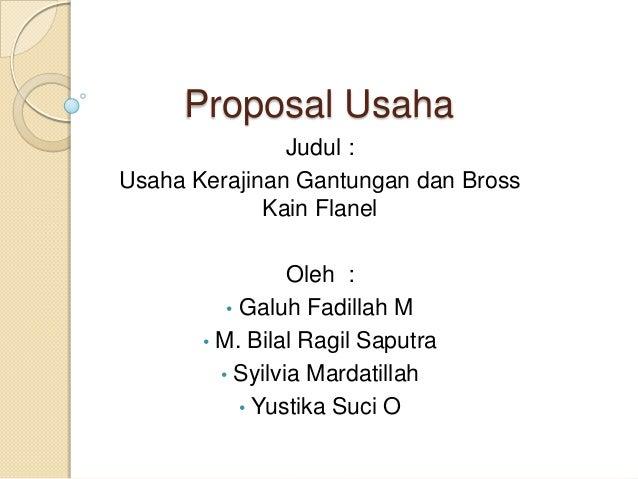 proposal business plan kewirausahaan