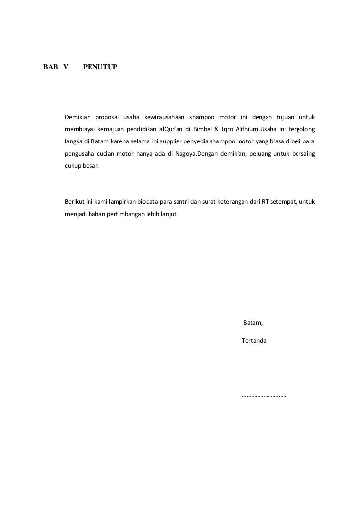 Proposal Usaha Alifnium