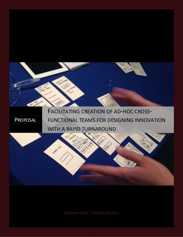 J.Jancsics 6.12.2013  FACILITATING CREATION OF AD-HOC CROSSPROPOSAL  FUNCTIONAL TEAMS FOR DESIGNING INNOVATION WITH A RAPI...