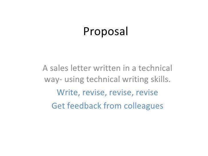 sale proposal format
