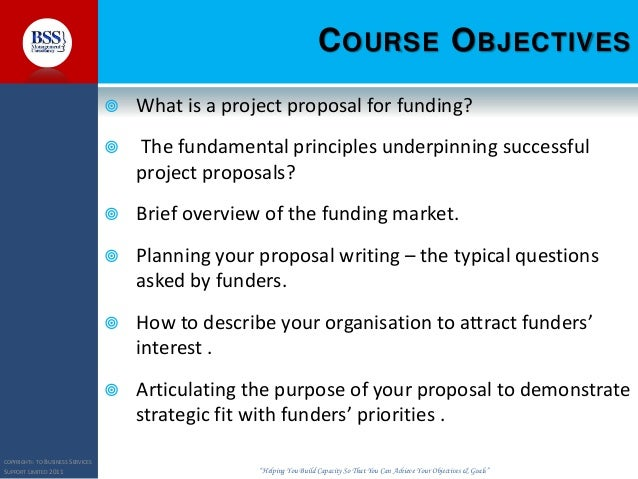 Delightful PROJECT PROPOSAL WRITING FOR FUNDRAISING; 2.