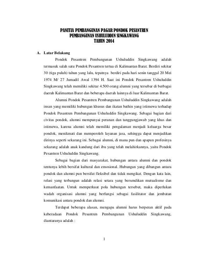 Proposal Pembangunan Pondok Pesantren Pdf