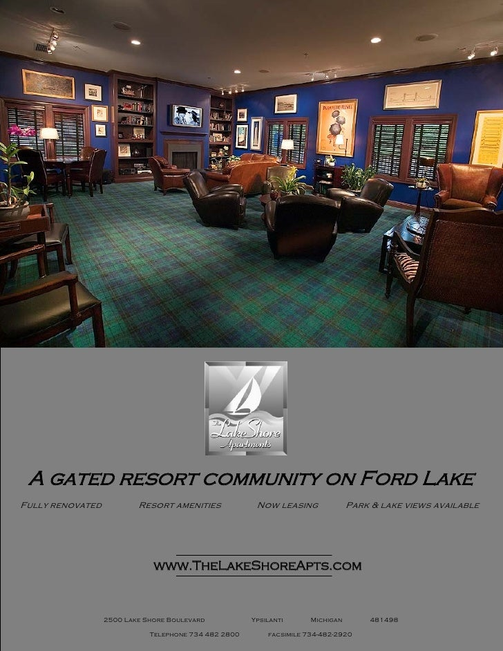 A gated resort community on Ford Lake Fully renovated           Resort amenities             Now leasing              Park...
