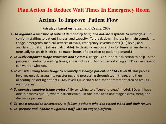 Proposed actions to improve waiting times at the emergency room supports 9 sciox Image collections