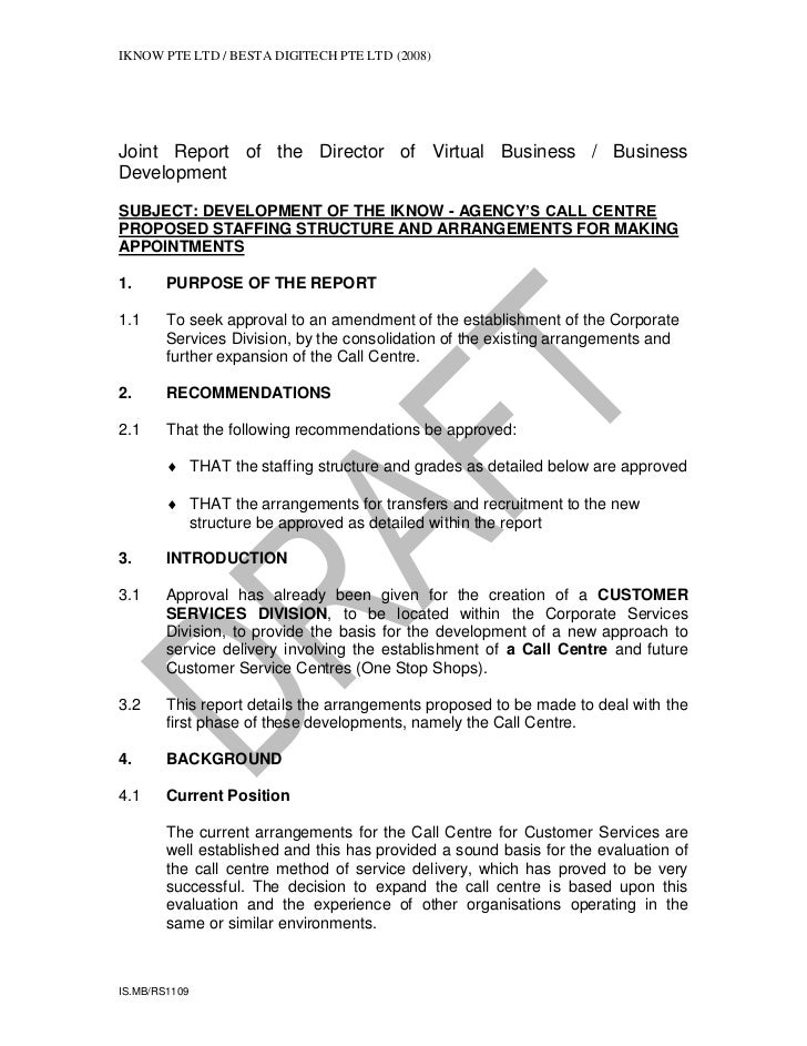 IKNOW PTE LTD / BESTA DIGITECH PTE LTD (2008)Joint Report of the Director of Virtual Business / BusinessDevelopmentSUBJECT...