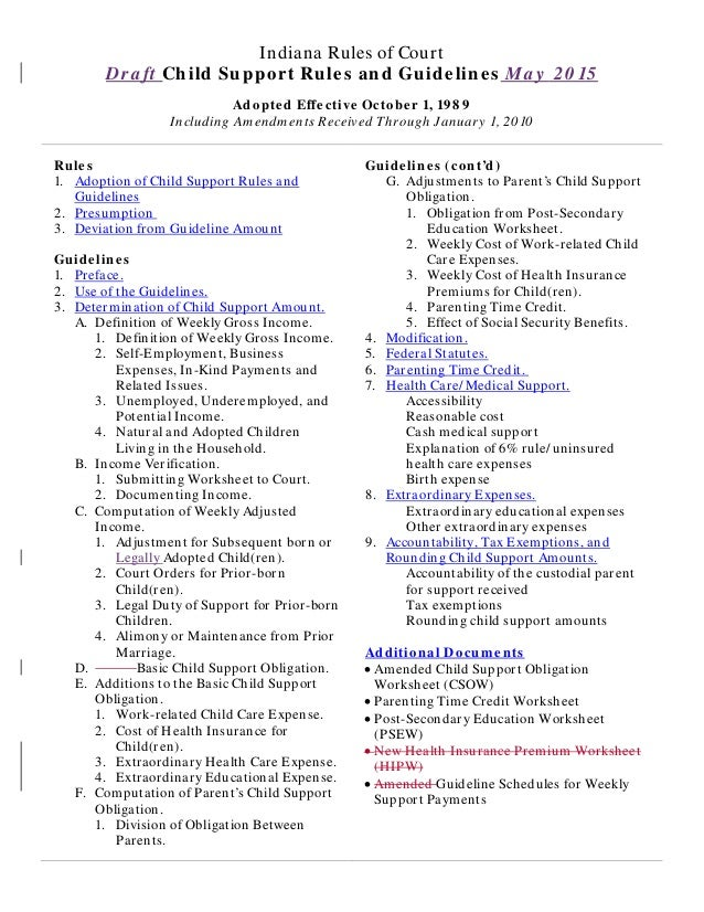 Massachusetts Child Support Guidelines Worksheet – Mass Child Support Worksheet