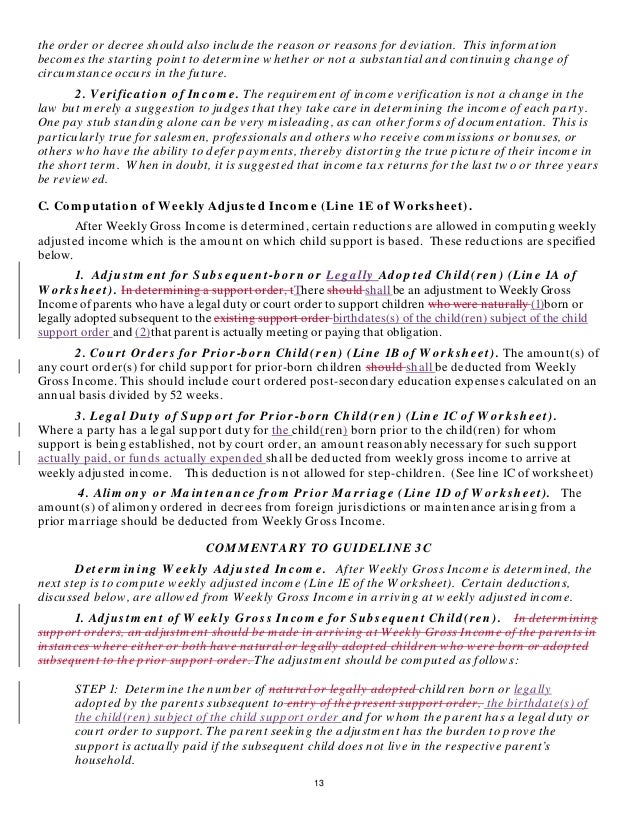 Indianas Proposed News Child Support Rules – Child Support Guidelines Worksheet Ma