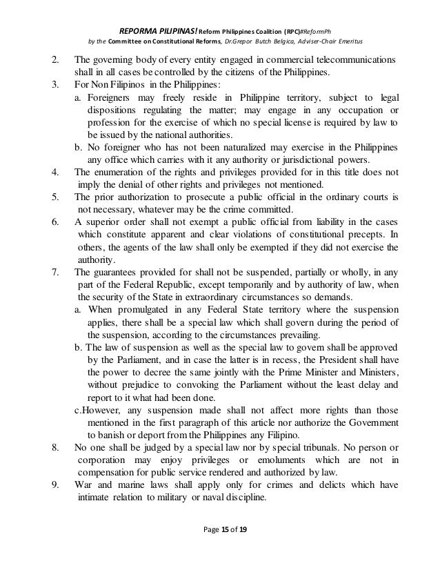 REPORMA PILIPINAS! Reform Philippines Coalition (RPC)#ReformPh by the Committee on Constitutional Reforms, Dr.Grepor Butch...