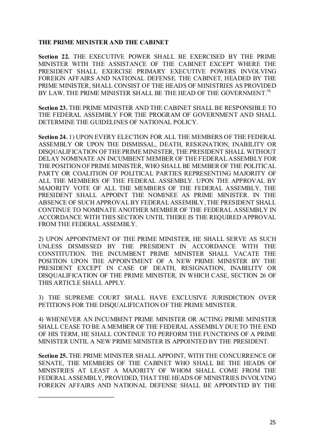 Proposed Constitution of the Federal Republic of the Philippines