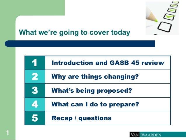 Proposed gasb 45 changes  Slide 2